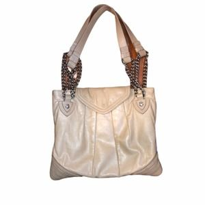 MARC JACOBS Beige Leather Mix Quilted Rosen Bag